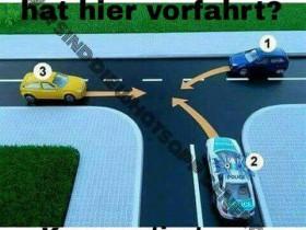 Welches Fahrzeug hat Vorfahrt
